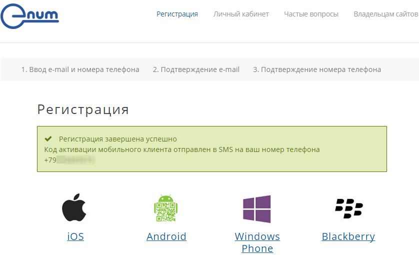 Установка E-num клиента