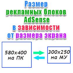 Формат блоков AdSense