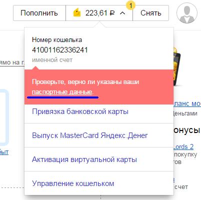 Подтверждение паспортных данных