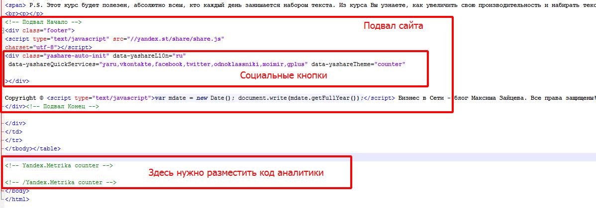 html структура страницы 2