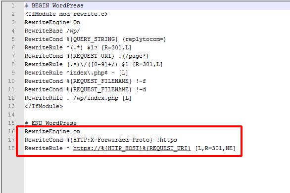 бесплатный SSL-сертификат на хостинге Спринтхост, настройка редиректа