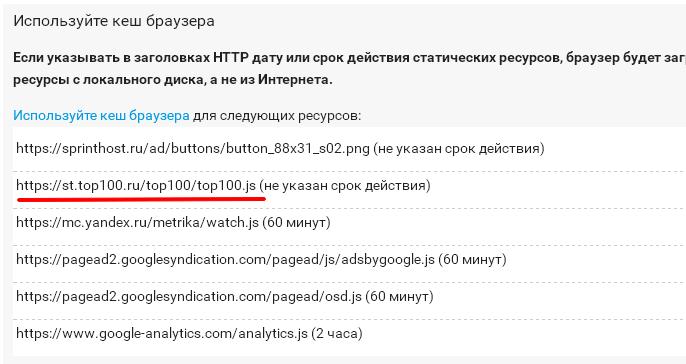 Счётчик Рамблер ТОП-100, тормоз