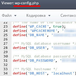 адрес сайта в WordPress